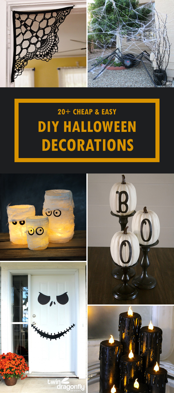 20 cheap and easy diy halloween decorations Halloween decoration diy cheap