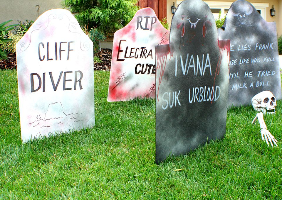 Funny Lawn Tombstones