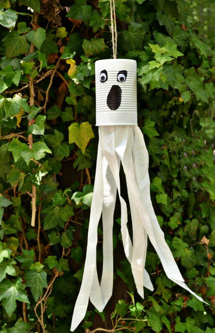 Halloween Tin Can Ghost