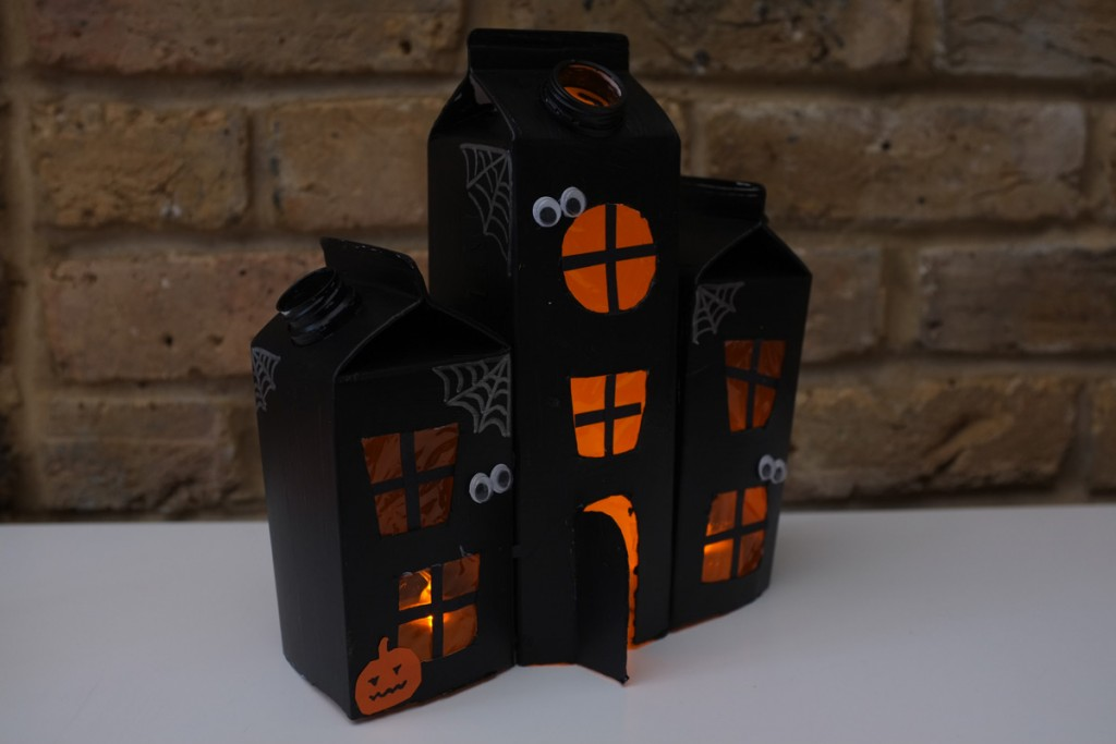 Haunted House Made Out of Milk Cartons