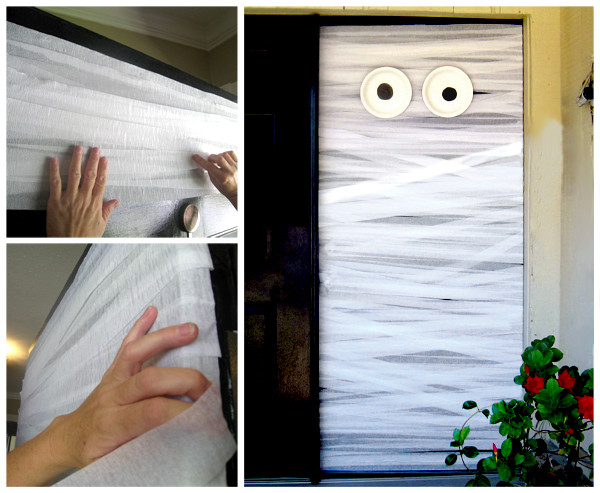 Mummy Halloween Door