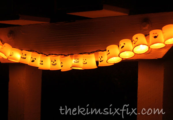 Recycled K-Cup Halloween Lights