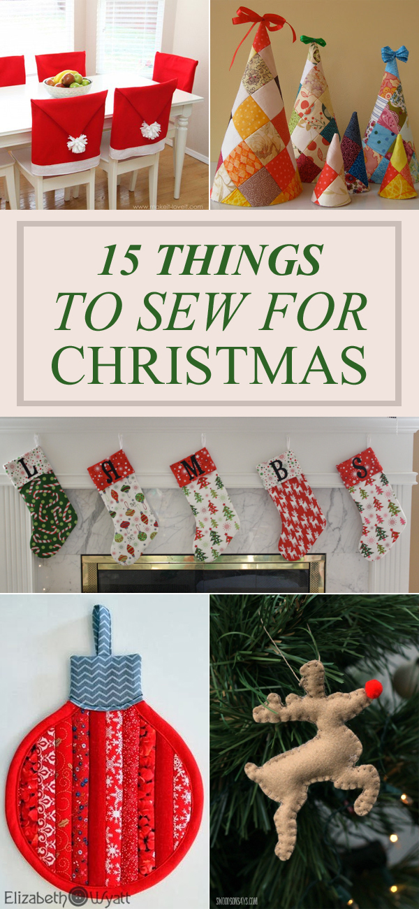 Things For Christmas.15 Things To Sew For Christmas