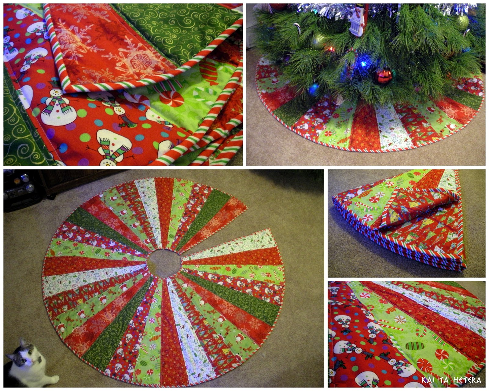 quilted christmas tree skirt