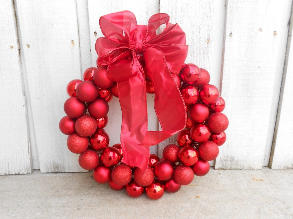 Dollar Store Ornament Wreath