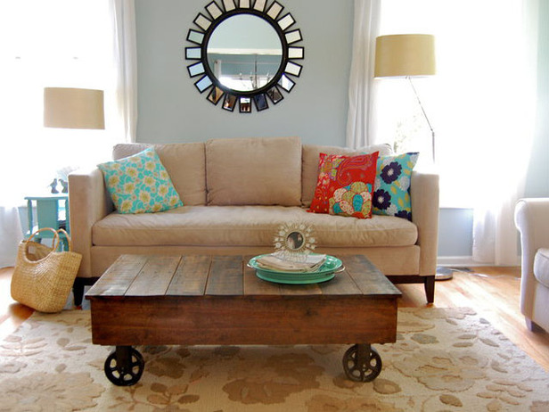 Industrial Cart Pallet Wood Coffee Table