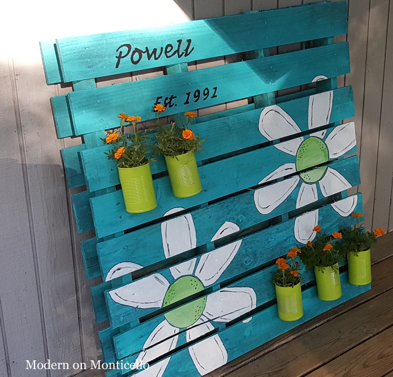 Pallet Sign and Garden Planter All In One