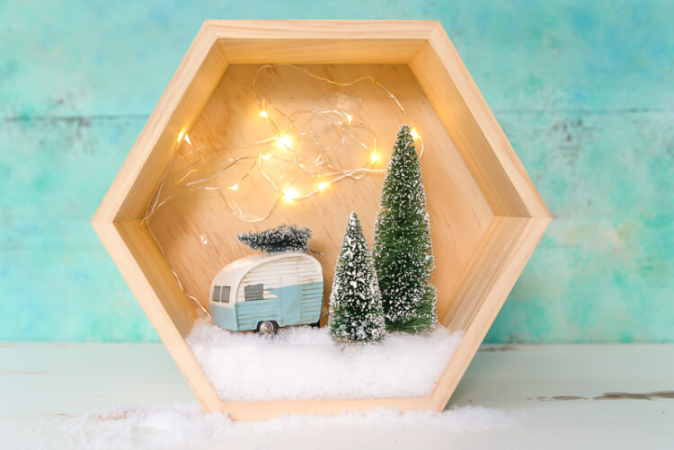 winter shadow box