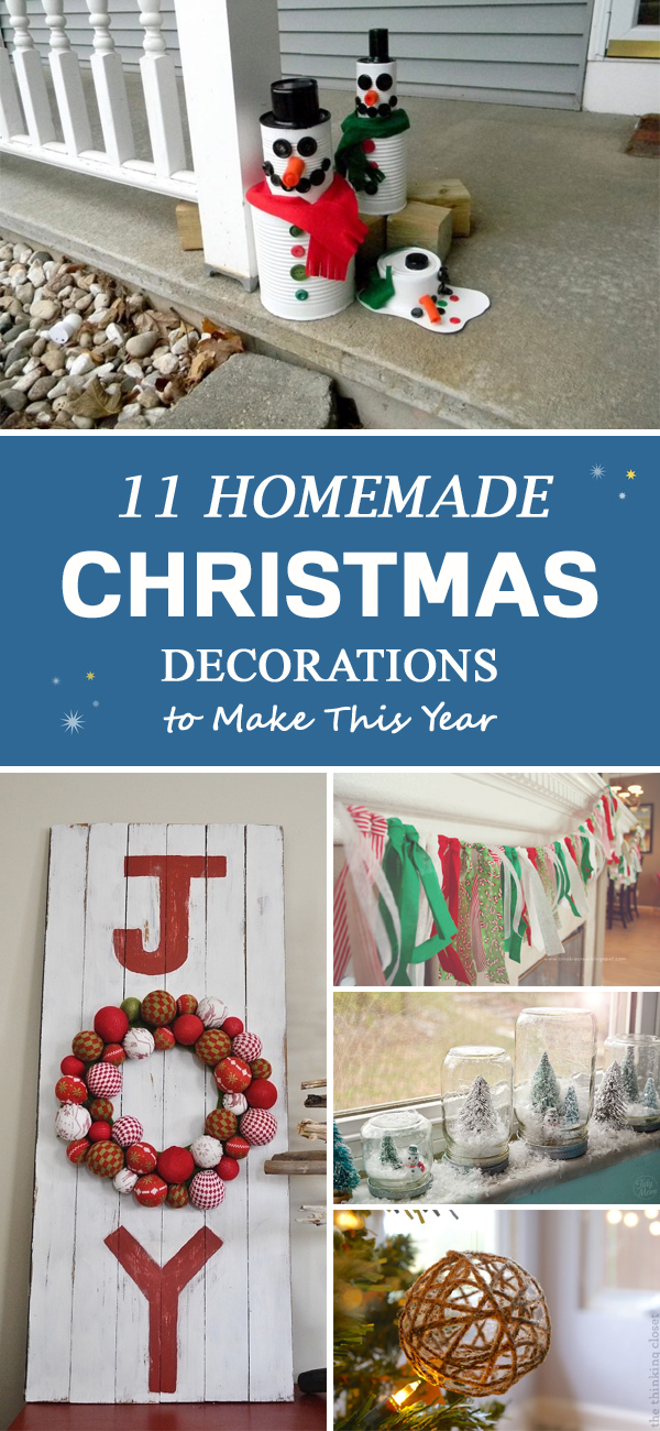 11 Beautiful Homemade Christmas Decorations to Make This Year