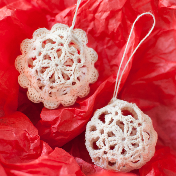 Lace Crochet Christmas Ornaments