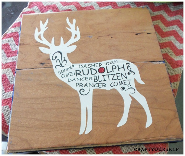 Merry Reindeer Art Board