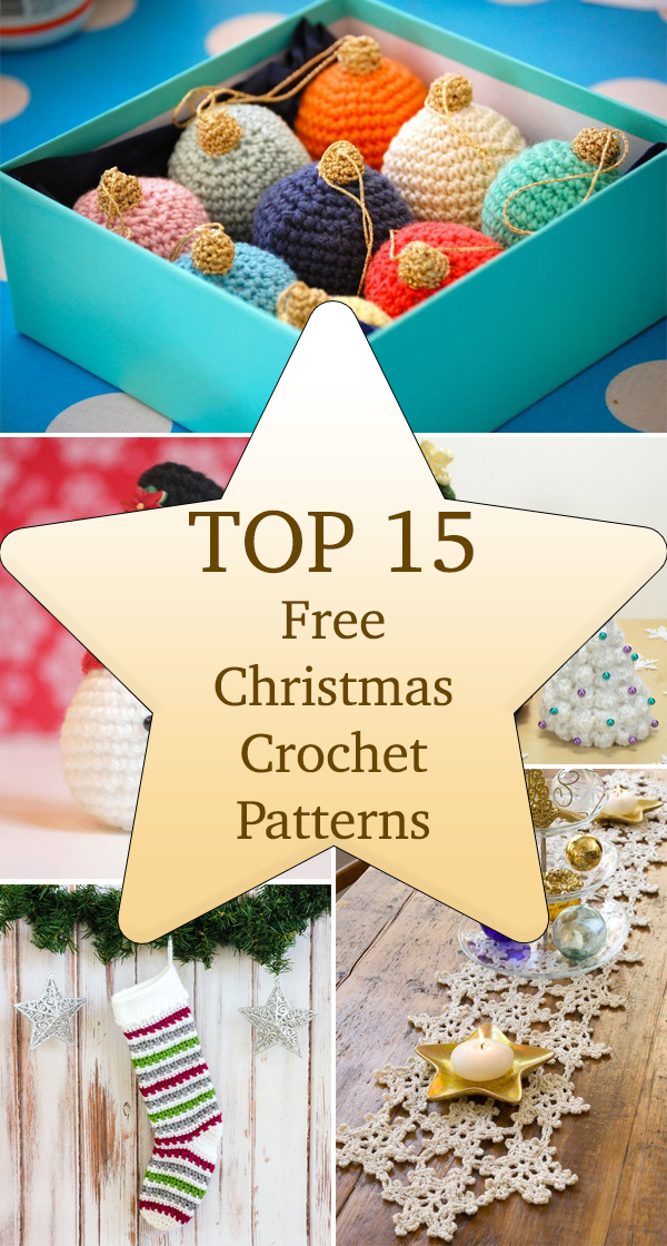 Top 15 Free Christmas Crochet Patterns
