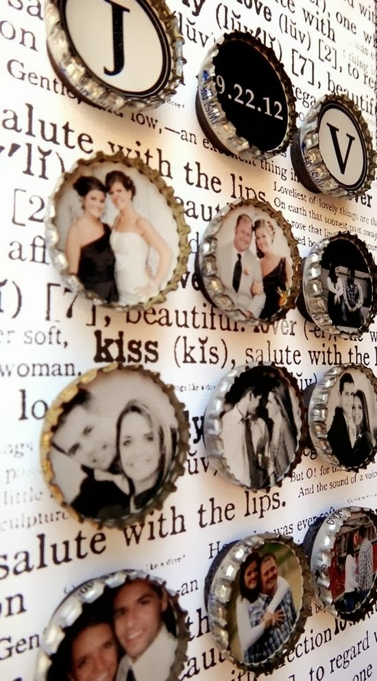 Mini Bottle Cap Picture Frames