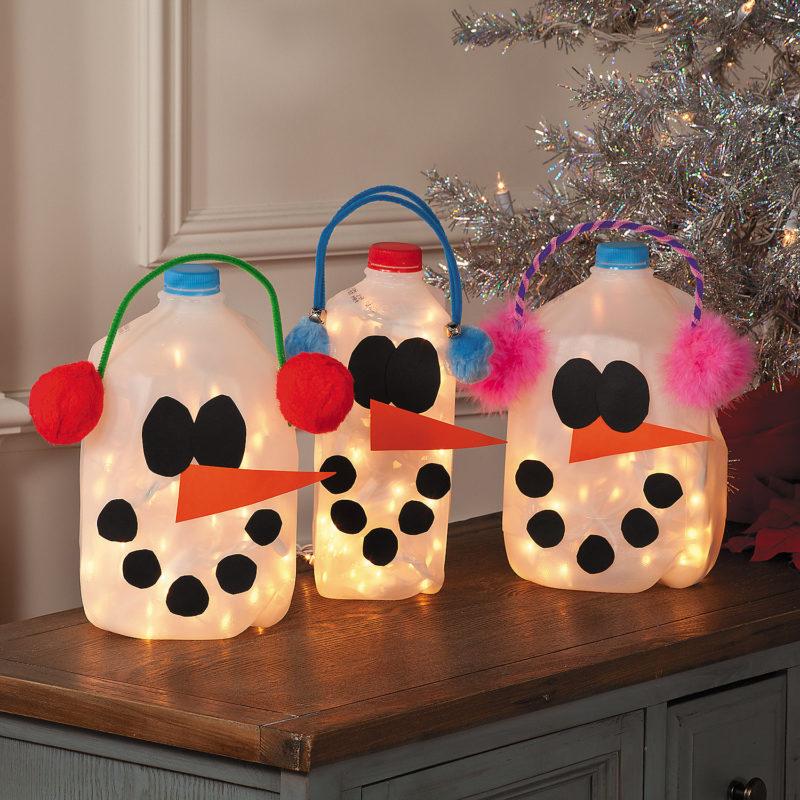 Snowman Milk Jugs