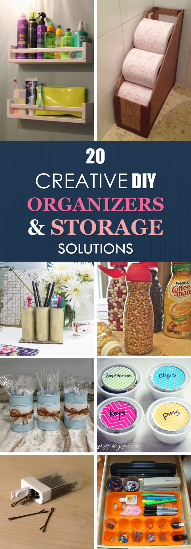 20 Creative DIY Organizers and Storage Solutions