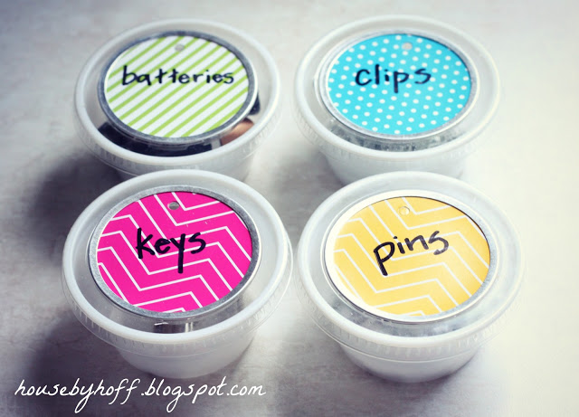 Upcycled Dip Container Organizers