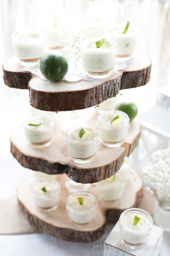 Rustic Three Tier Wood Slice Stand