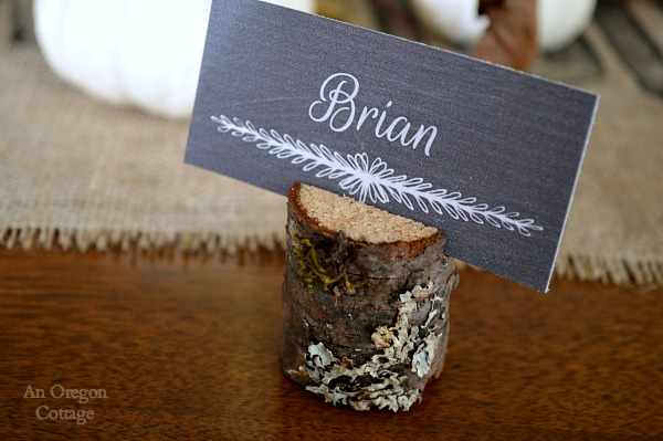 Wood Place Card Holders from Tree Branches