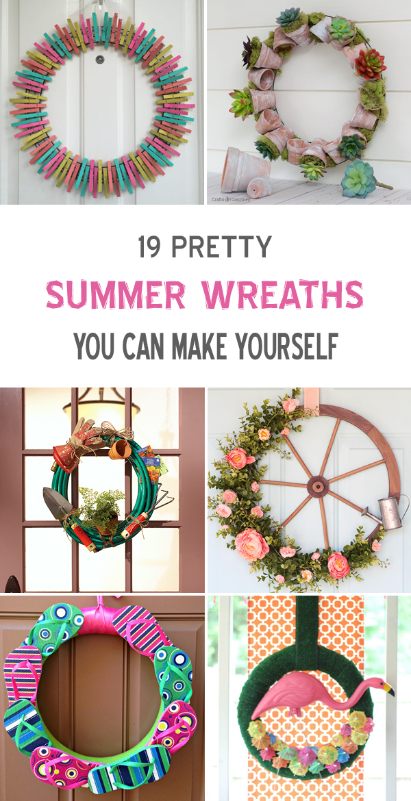 19 Pretty Summer Wreaths You Can Make Yourself