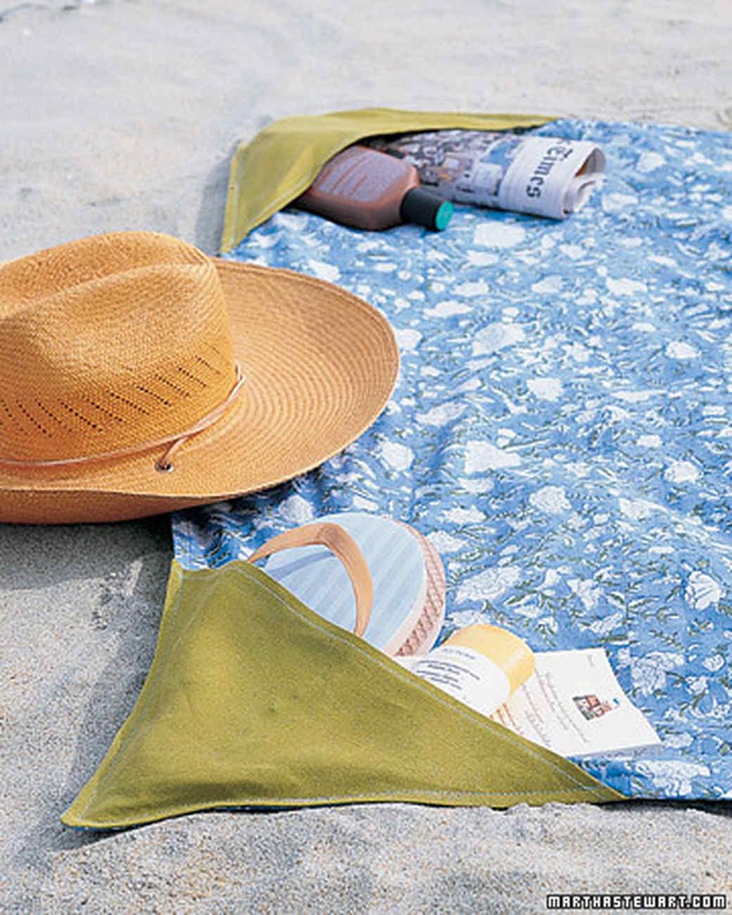 Beach Blanket with Corner Pockets
