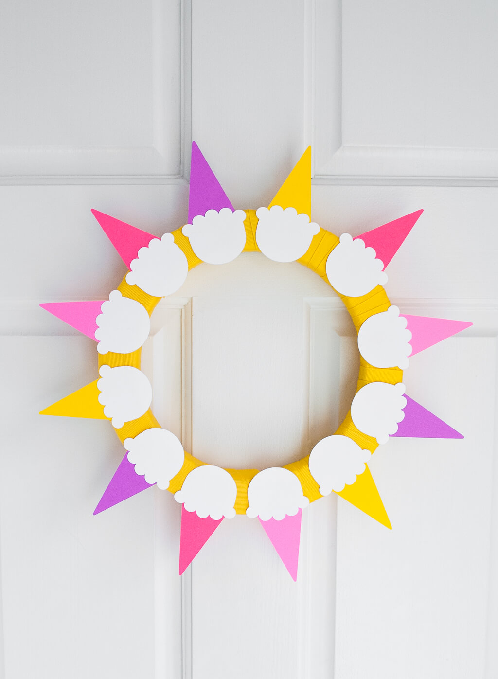 Ice Cream Sunshine Wreath