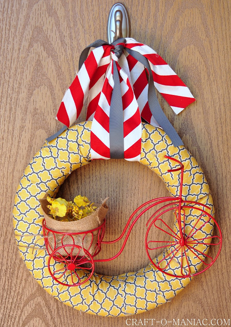 Summer Bicycle Wreath