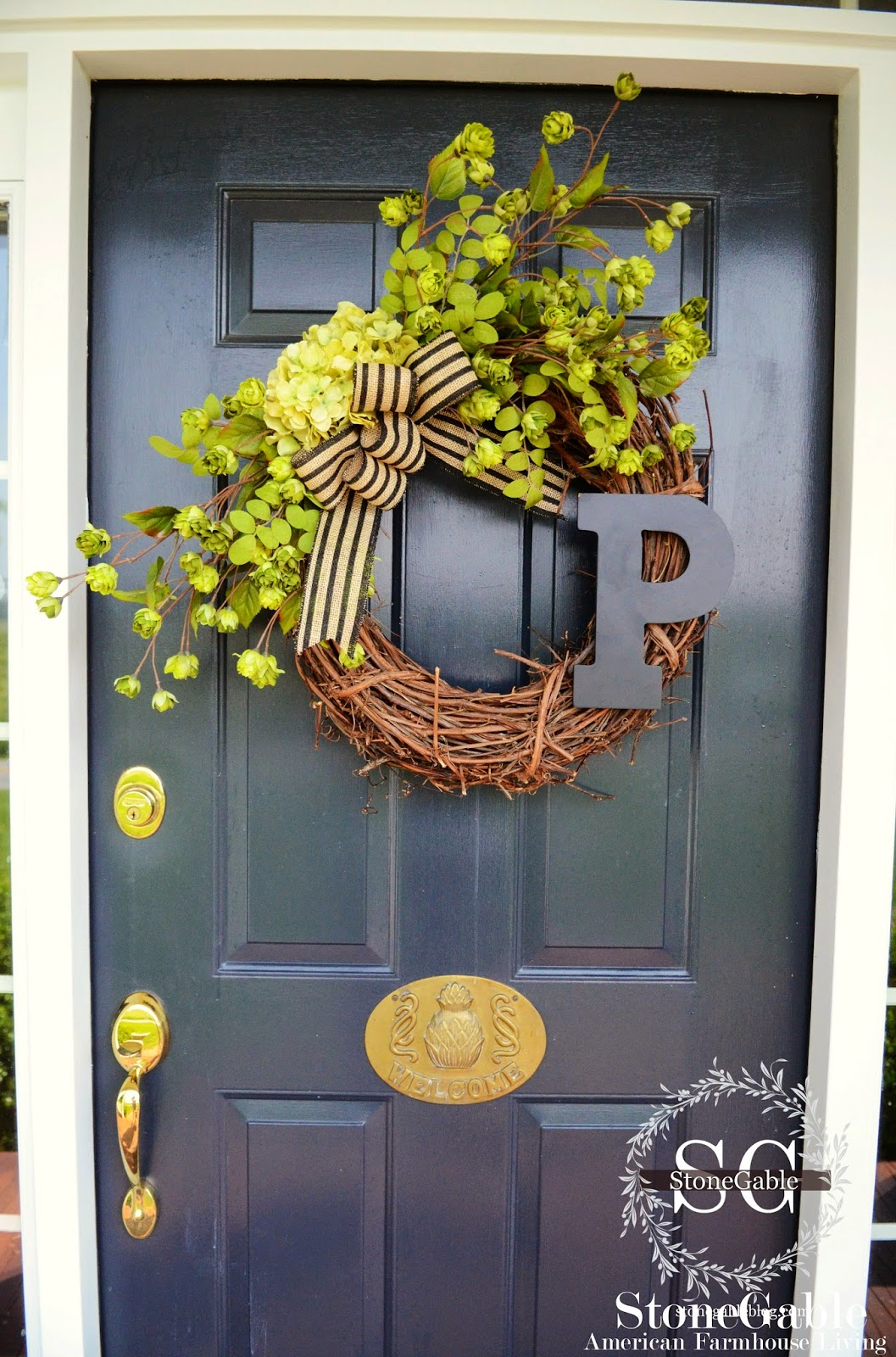 Summer Initial Wreath