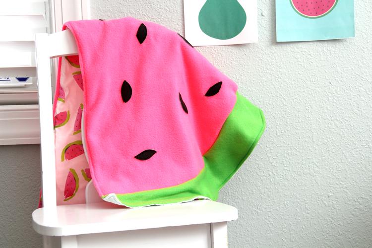 Watermelon Seeds Easy Baby Blanket