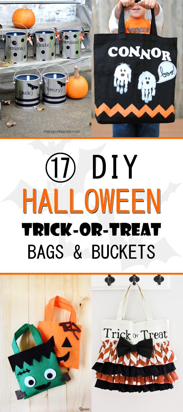 17 DIY Halloween Trick-or-Treat Bags and Buckets
