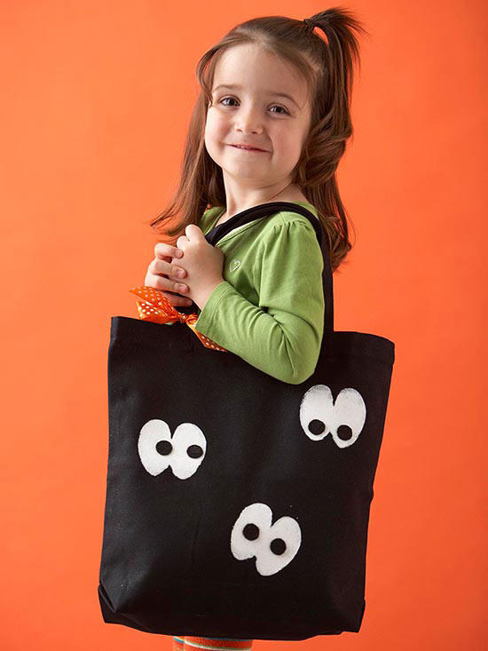 Googly Eye Trick or Treat Tote Bag