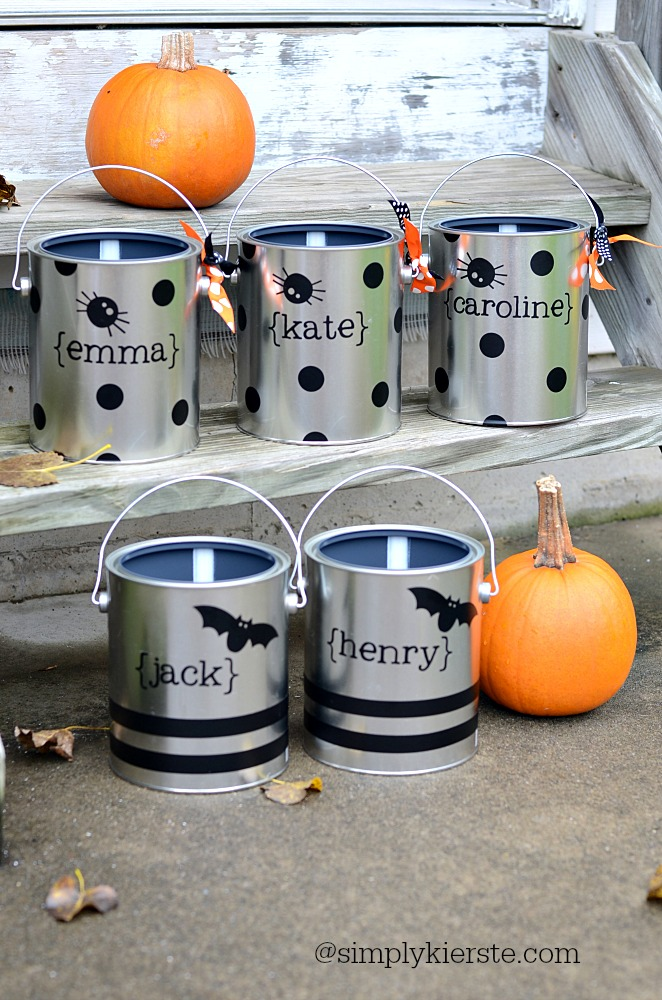 Paint Can Trick or Treat Buckets