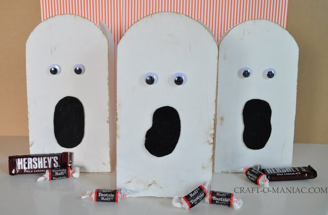 Paper Ghost Treat Bags