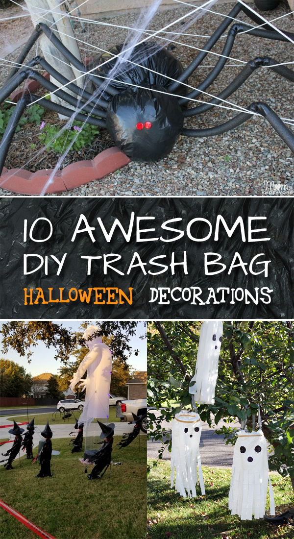 10 Awesome DIY Trash Bag Halloween Decorations