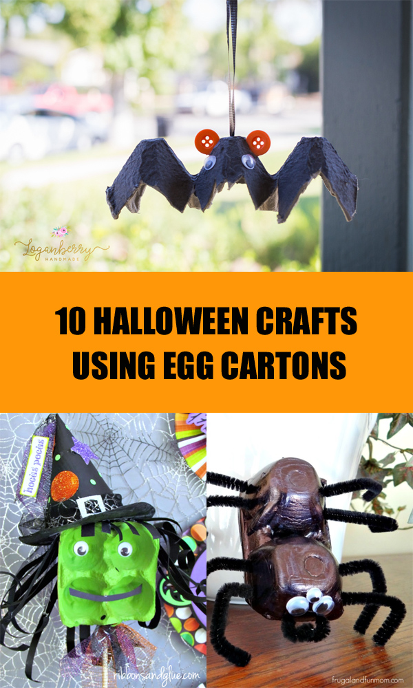 10 Halloween Crafts Using Egg Cartons