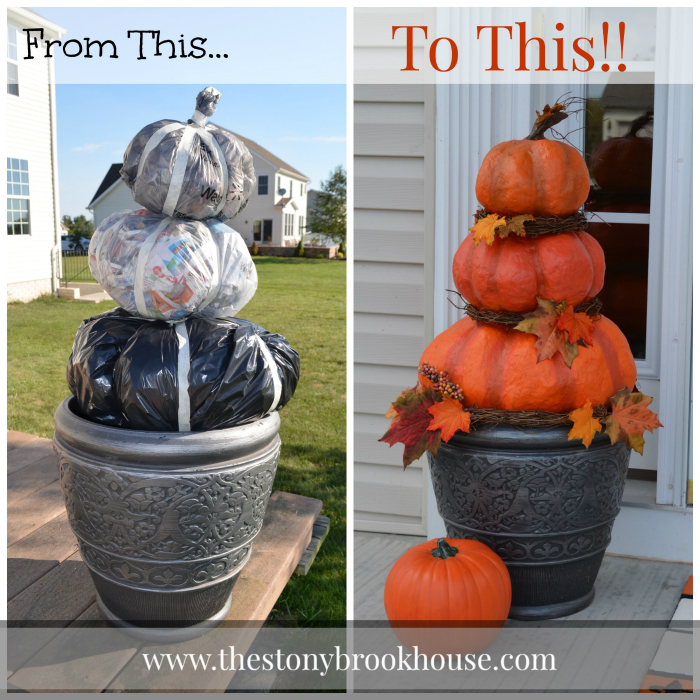 Halloween Pumpkins From Trash Bags