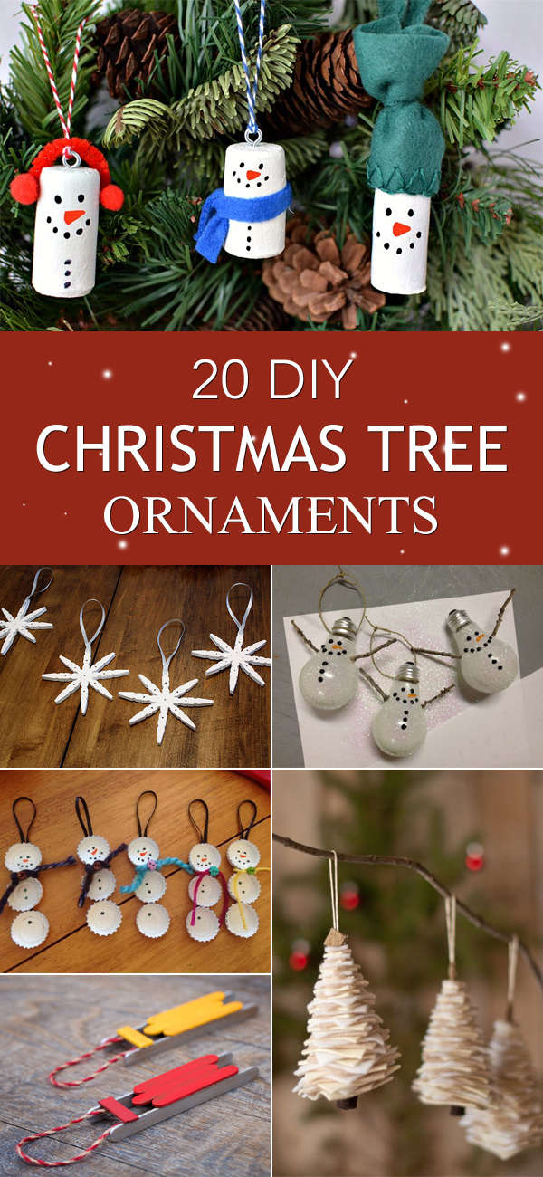 20 Easy and Beautiful DIY Christmas Tree Ornaments