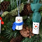 Wine Cork Snowman Christmas Tree Ornaments