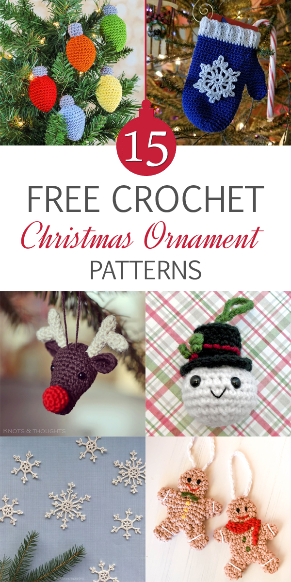 15 Free Crochet Christmas Ornament Patterns