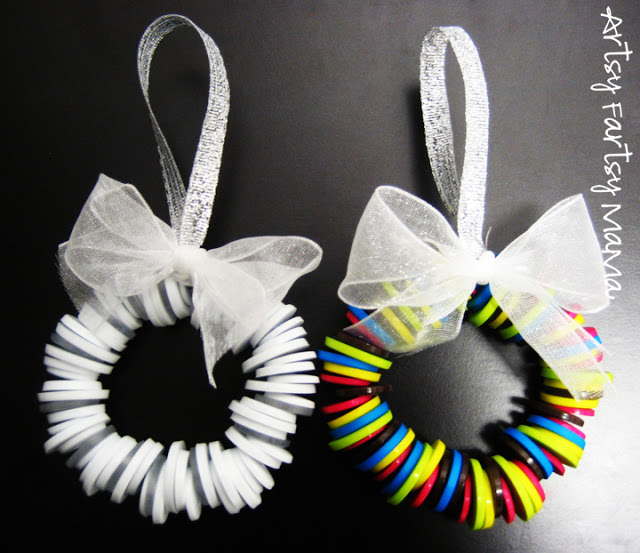 Button Wreath Ornaments