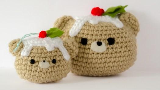 Christmas Pudding Bear Ornament