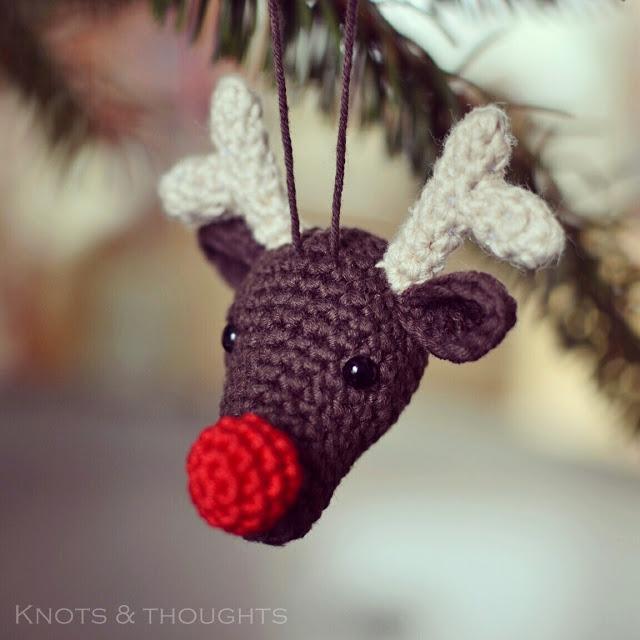 Crochet Rudolph Ornament