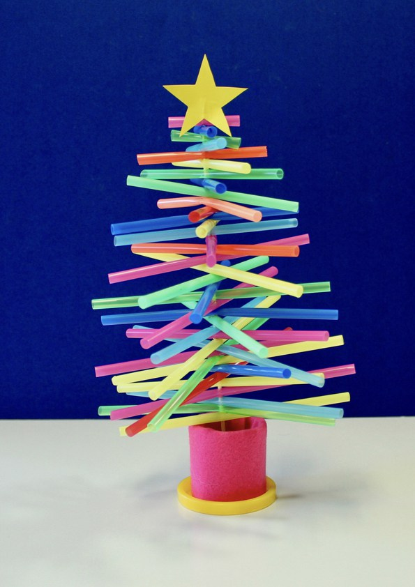 Plastic Straw Christmas Tree