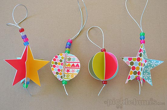 Star and Circle Paper Decorations
