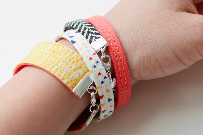 Simple Fabric Bracelets