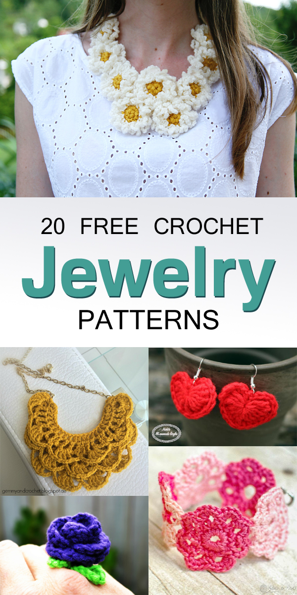 20 Free Crochet Jewelry Patterns