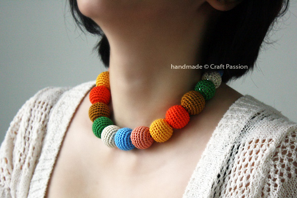 Beads Necklace Crochet Pattern