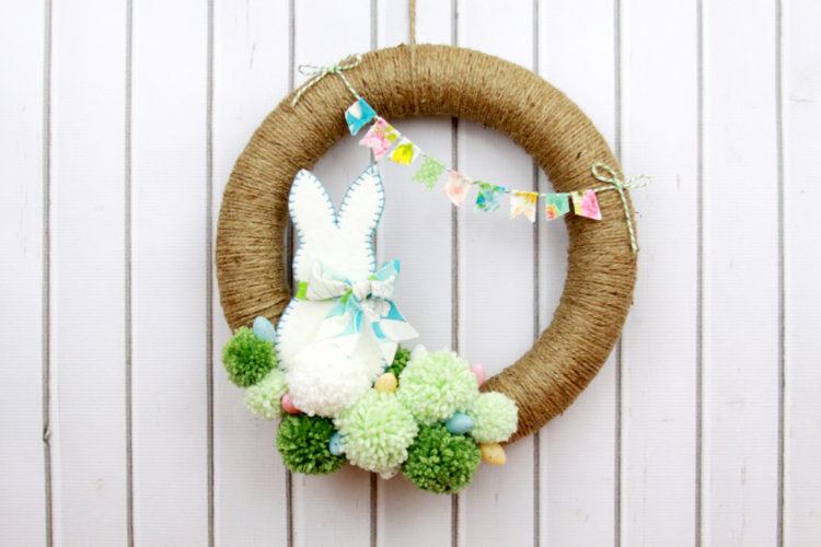 Bunny Pom Pom Wreath