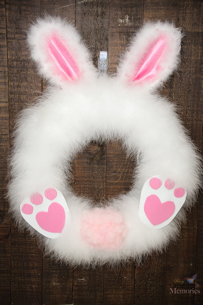 Fluffy Easter Bunny Wreath