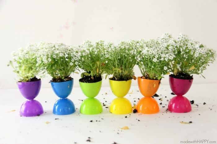 Plastic Easter Egg Flower Pots