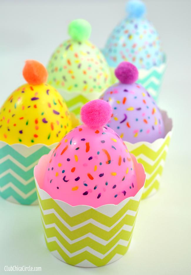Plastic Egg Cupcakes